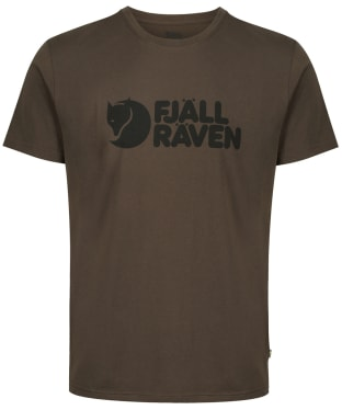 Men's Fjallraven Logo T-Shirt - Dark Olive