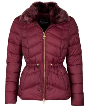 Women's Barbour International Halfback Quilted Jacket - Port