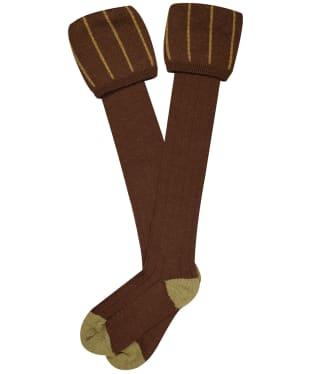Men's Pennine Devonshire Shooting Socks - Pecan
