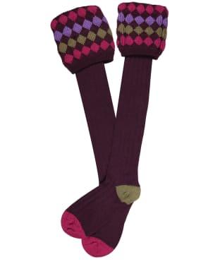 Men's Pennine Kendal Luxe Shooting Socks - Plum