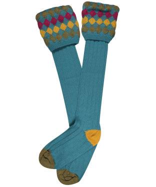 Men's Pennine Kendal Luxe Shooting Socks - Turquoise