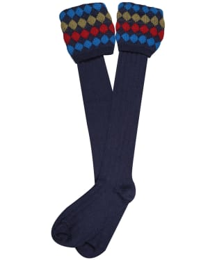 Men's Pennine Kendal Luxe Shooting Socks - Mid Navy