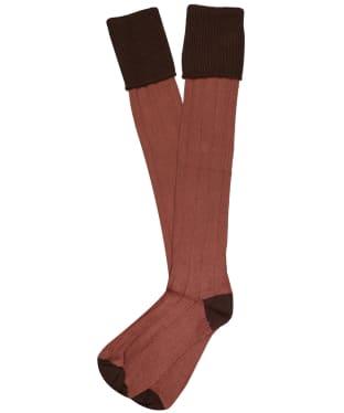 Men's Pennine Pembroke Shooting Socks - Chocolate