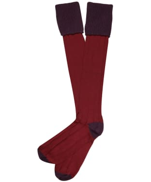 Men's Pennine Pembroke Shooting Socks - Aubergine