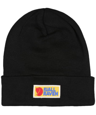 Men's Fjallraven Vardag Classic Beanie Hat - Black