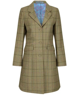 Women's Alan Paine Combrook Tweed Mid Length Coat - Lotus
