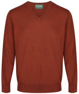 Men's Alan Paine Millbreck V-Neck Sweater - Rust