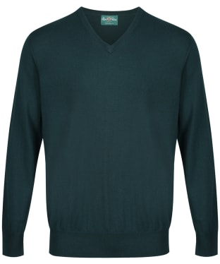 Men's Alan Paine Millbreck V-Neck Sweater - Tartan Green