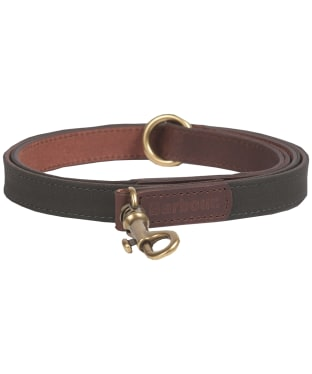 Barbour Wax Leather Dog lead - Olive