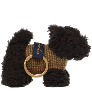 Joules Tweedle Keyring - Black Scottie Dog