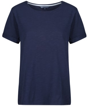 Women's Crew Clothing Slub Cotton T-Shirt - Navy