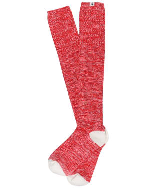Women's Joules Long Trussel Socks - Red Rose