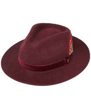 Women's Joules Fedora Hat - Oxblood