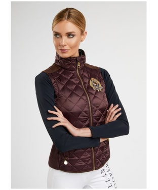 Women's Holland Cooper Diamond Quilted Gilet - Mulberry