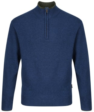 Men's Musto Country Zip Neck Knit - Dark Cobalt Blue