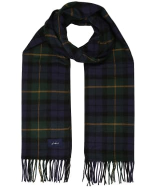 Women's Joules Bracken Woven Scarf - Navy / Green Check