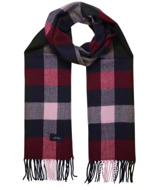 Women's Joules Bracken Woven Scarf - Blue / Pink Check