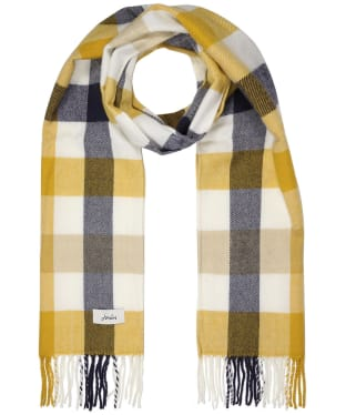 Women's Joules Bracken Woven Scarf - Brown Check