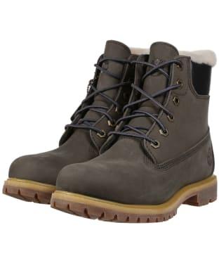 Women's Timberland 6inch Premium Boots - Dark Grey Nubuck