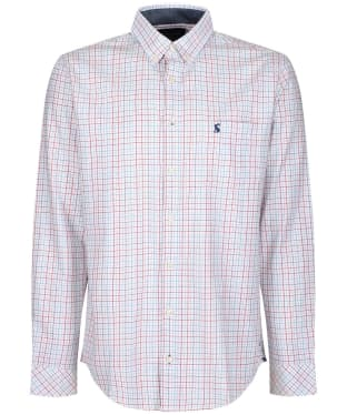 Men's Joules Welford Classic Shirt - White Multi Check