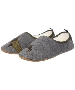 Women's Joules Slippet Slippers - Grey Daschund
