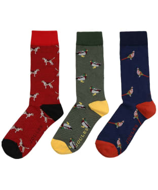 Men's Joules Striking 3 Pack Socks - Multi Animal