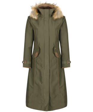 Women's Alan Paine Berwick Waterproof Long Coat - Olive
