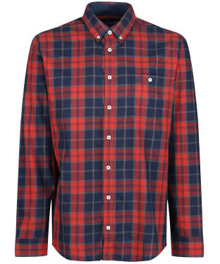 Men's Joules Hewitt Shirt - Orange Herringbone