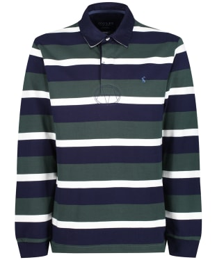 Men's Joules Onside Rugby Shirt - Green Stripe