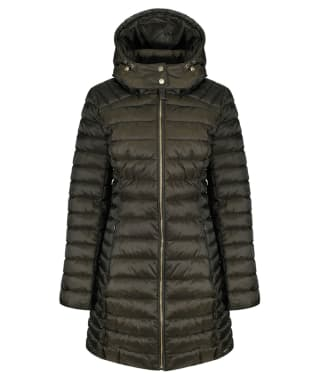Women's Joules Canterbury Long Quilted Jacket - Heritage Green