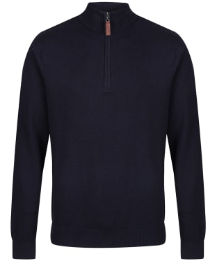 Men's Schoffel Cotton ¼ Zip Jumper - Navy