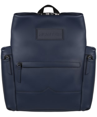 Hunter Original Large Top Clip Backpack - Rubberised Leather - Navy