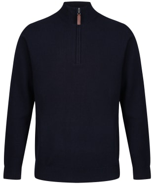 Men's Schoffel Lambswool ¼ Zip Sweater - Navy