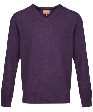 Men's Schoffel Lambswool V Neck Sweater - Prune