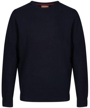 Men's Schoffel Lambswool Crew Neck Sweater - Navy