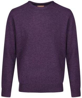 Men's Schoffel Lambswool Crew Neck Sweater - Prune