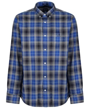 Men's GANT Herringbone Check Shirt - Crisp Blue