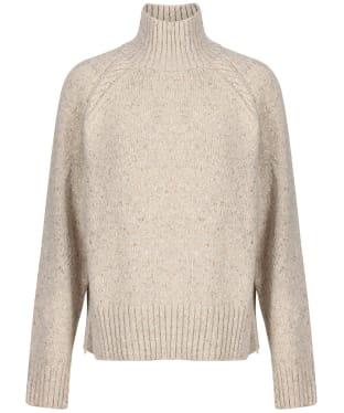Women's GANT Neps Cable Turtleneck Sweater - Manila Melange