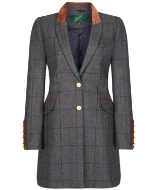 Women's Holland Cooper Kempton Wool Coat - Mid Blue Check