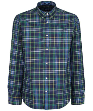 Men's GANT Micro Tartan Oxford Shirt - Ivy Green