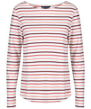 Women's Crew Clothing Essential Breton L/S Top - White Multi