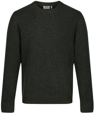 Men's Fjallraven Ovik Nordic Sweater - Deep Forest