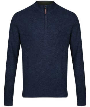 Men's Crew Clothing Chesil Half Zip Sweater - Denim