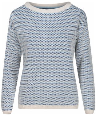Women's Crew Clothing Hayle Jumper - Grey / Blue
