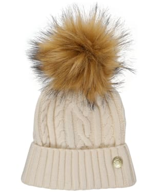 Women's Holland Cooper Cashmere Knitted Bobble Hat - Winter White