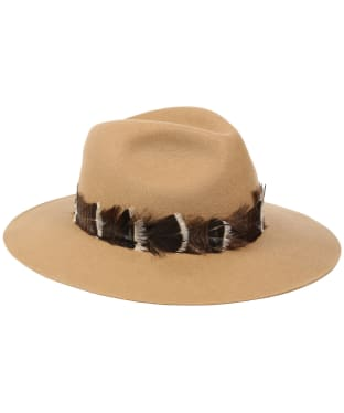 Women's Holland Cooper Trilby Hat - Camel