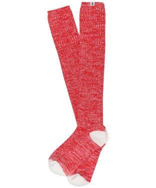 Women's Joules Long Trussel Socks - Red Rose