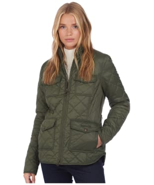 Women's Barbour x National Trust Trent Quilted Jacket - Olive