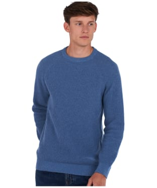 Men's Barbour x National Trust Portness Sweater - Washed Blue