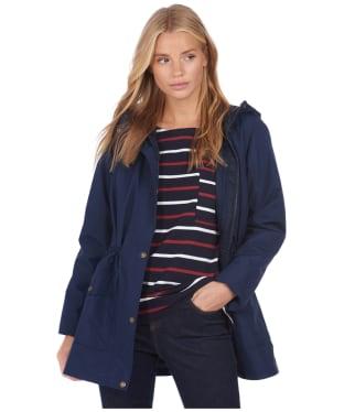 Women's Barbour x National Trust Rowland Waterproof Jacket - Navy